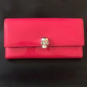 Alexander McQueen Patent Leather Skull Wallet
